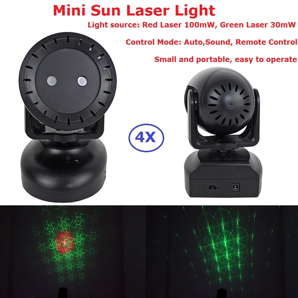 4XLot RG Two Color Laser Lights High Quality 130MW Moving Head Laser Lights With Remote Control For Christmas Decoration4XLot RG Two Color Laser Lights High Quality 130MW Moving Head Laser Lights With Remote Control For Christmas Decoration