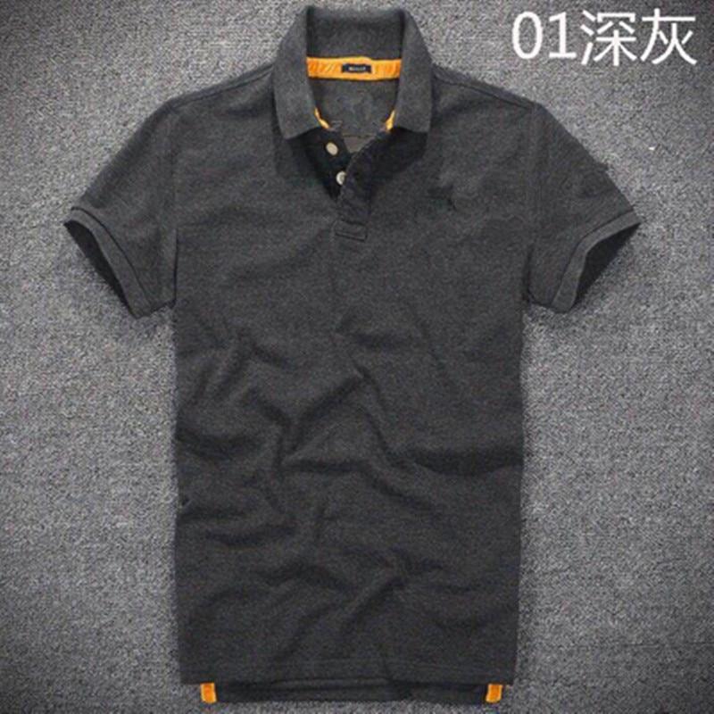 Nouveau Moleton feminino polo abercr & ombie camisa polo hollistic super hommes polo 100% coton haute qualité homme vêtements