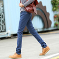 Hombres ocasionales más los pantalones del tamaño para hombre multi-color pantalones flacos