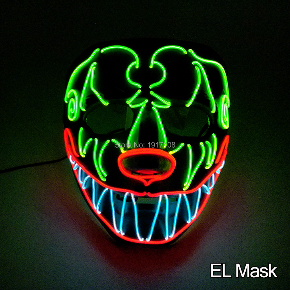 Halloween Parties In Dc 2020 2020 New arrival EL wire mask for Holiday Party DIY decoration and