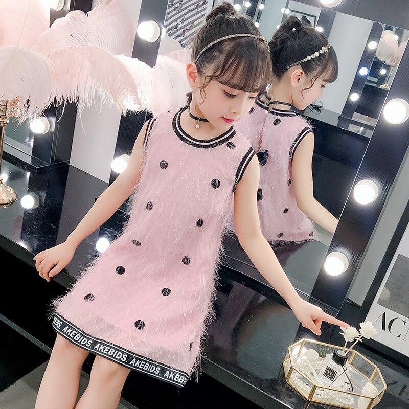 85815cf7f Verano niñas princesa vestidos de moda, ropa de bebé niña Vestido Infantil  de los niños de punto ...