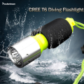 2017 NEW LED Diving Flashlight LED Torch CREE T6 Underwater Diving Flashlight Torch Waterproof Lamp free shipping