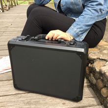 купить Aluminum Tool case suitcase toolbox File box Impact resistant safety case equipment camera case with pre-cut foam lining в интернет-магазине