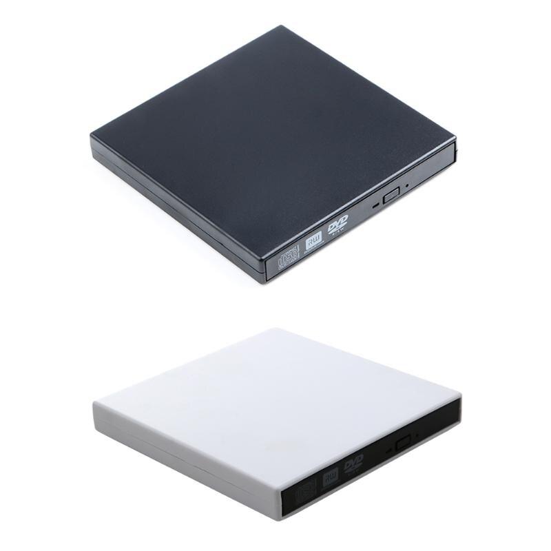USB 2,0 externo CD-Rom/CD-RW/Combo/DVD-Rom grabador de la Unidad de grabador con Cable de datos USB para Mac ordenador portátil PC ordenador de escritorio