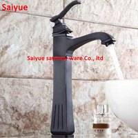 Euro Style Antique Crystal Oil Rubbed Black Brass Swivel Singe Handle Faucet Bathroom Basin Kitchen