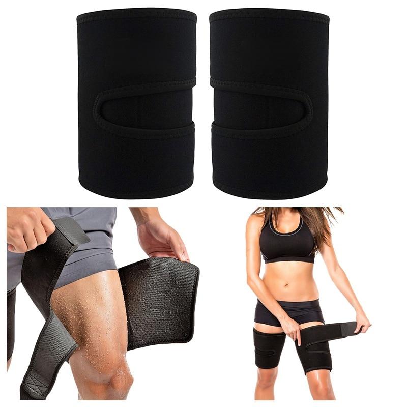 Men Women Adjustable Thigh Brace Wraps Support Leg Warmers Breathable Neoprene Non-Slip Hamstring Compression Sleeve