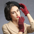 winter show soft Russian style fashion famous band time New Winter women gloves lovely fashion Touch screen lady gloves