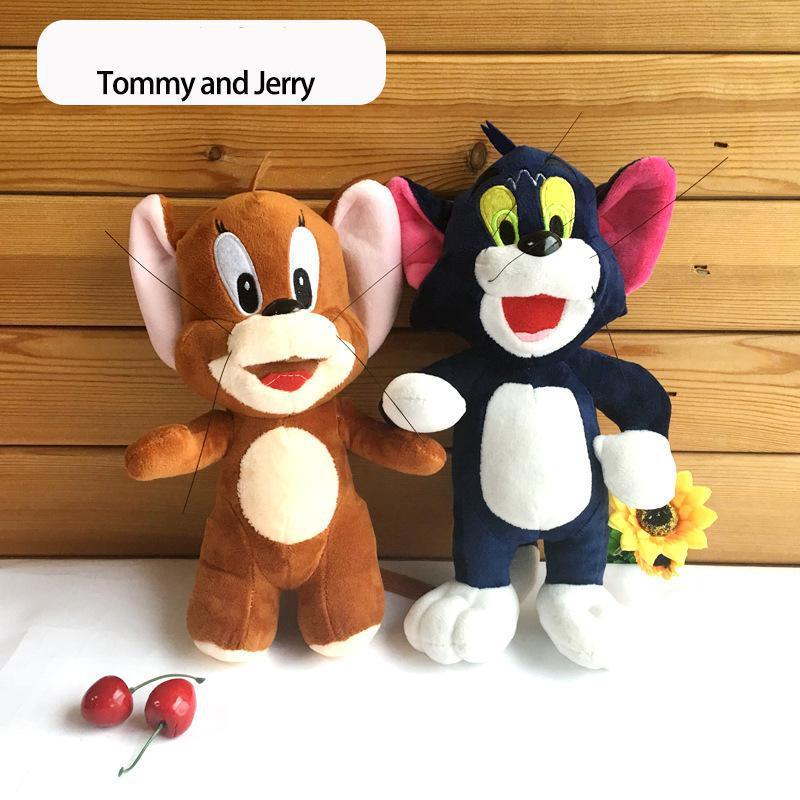 Hot New 1pcs 27cm / 35cm <font><b>Tom</b></font> <font><b>And</b></font> <font><b>Jerry</b></font> Stuffed Soft Plush <font><b>Toy</b></font> Doll <font><b>Cute</b></font> <font><b>Cartoon</b></font> Cats <font><b>And</b></font> Mouses Dolls Baby <font><b>Toys</b></font> <font><b>Kids</b></font> Girls Gifts