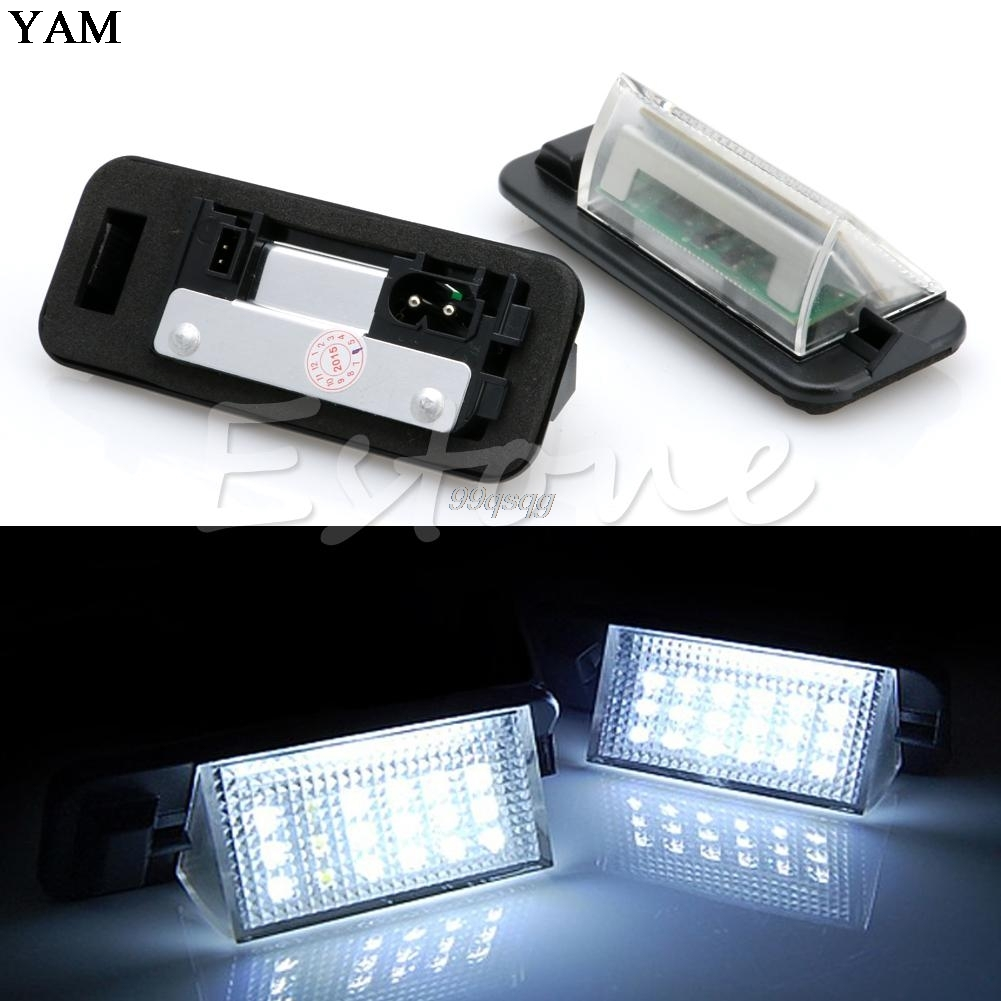 цена на 2Pcs 18 LED License Number Plate Light Lamp for BMW 3-series E36 (1992-1998) Drop shipping