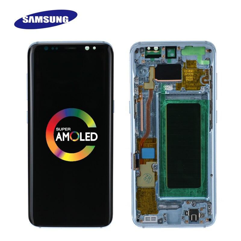 Oryginalny Lcd do Samsunga Galaxy S8 S8 plus G950 G950F G955fd G955F G955 Burn w cieniu wyświetlacz Lcd z ekranem dotykowym do postaci cyfrowej w Ekrany LCD do tel. komórkowych od Telefony komórkowe i telekomunikacja na AliExpress - 11.11_Double 11Singles' Day 1