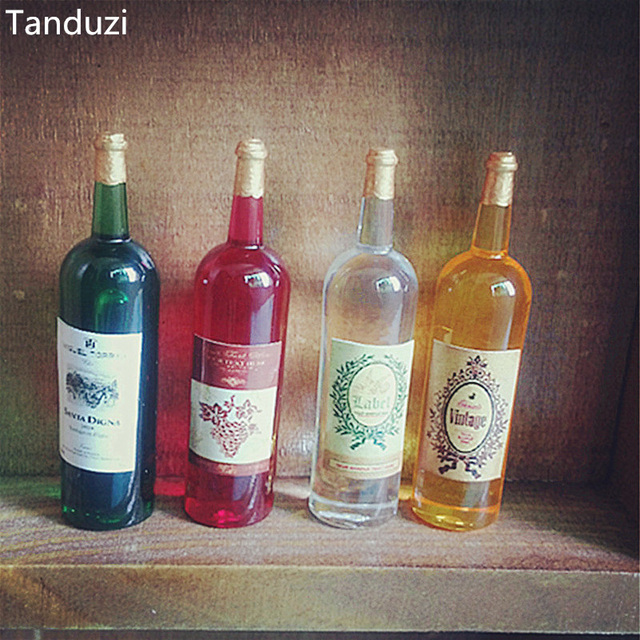 tanduzi 4pcs kawaii 1 12 dollhouse miniature simulation mini wine