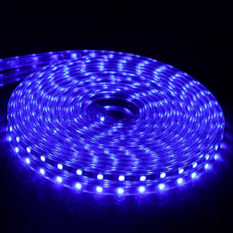 SMD 5050 AC 220V LED Strip Outdoor Waterproof 220V 5050 220 V LED Strip 220V SMD 5050 LED Strip Light 1M 2M 5M 10M 20M 25M 220V 3