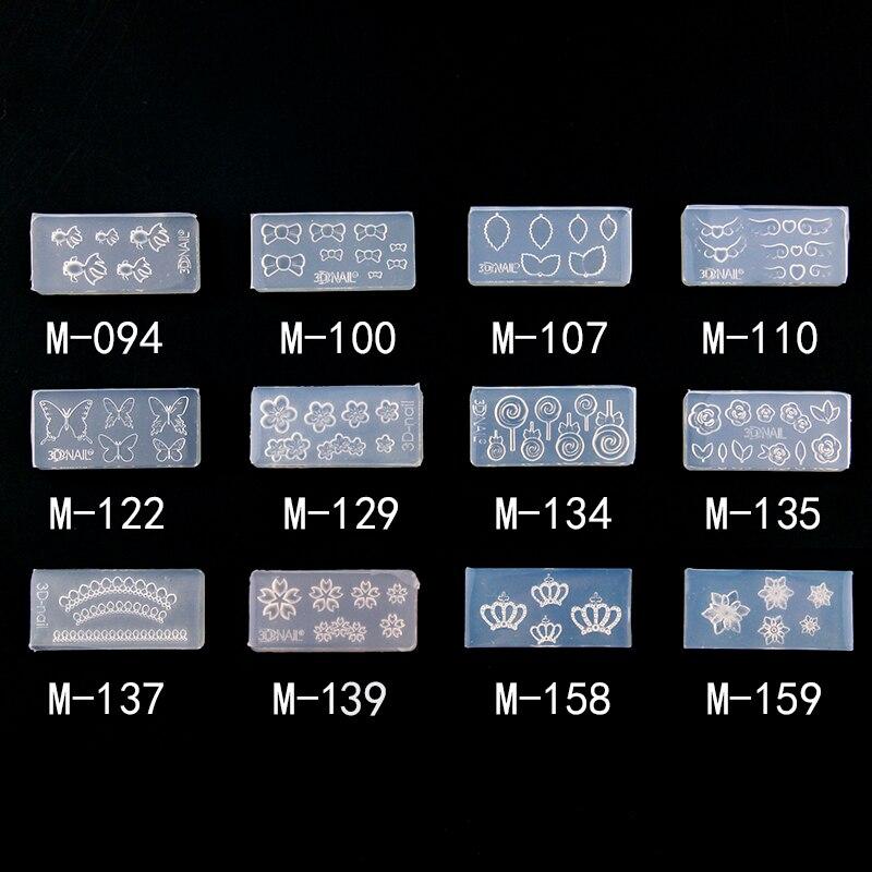 1 Stück 2x4 Cm 3d Nail Art Silikon Harz Form Für Schmuck, Der Katze Stern Herz Transparent Silikon Form Für Frau Diy Anhänger
