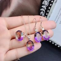 Natural Amethyst Jewelry Set,Beautiful color, delicate. It has collection value. 925 Sterling silver. Size adjustable