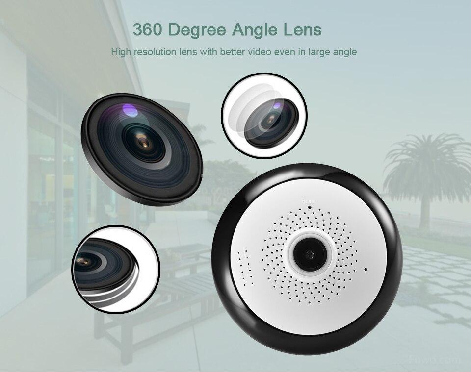 HQCAM VR Fisheye Panorâmica de 360 Graus