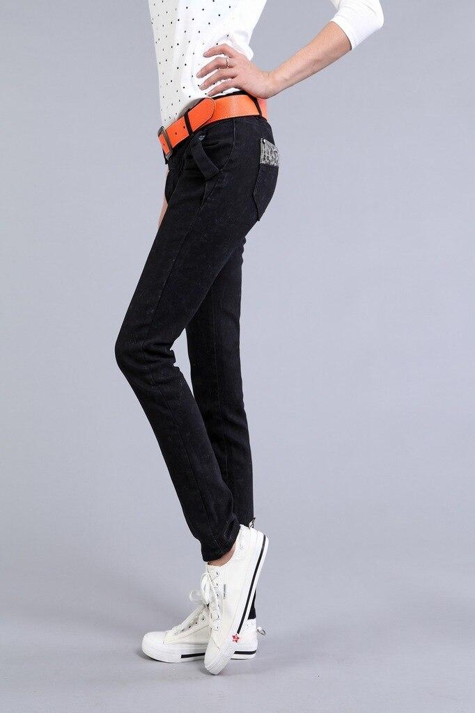 Cotton denim 2017 fashion women's pencil pants low waish pants women capris Jeans trousers free shipping lole капри lsw1349 lively capris xs blue corn