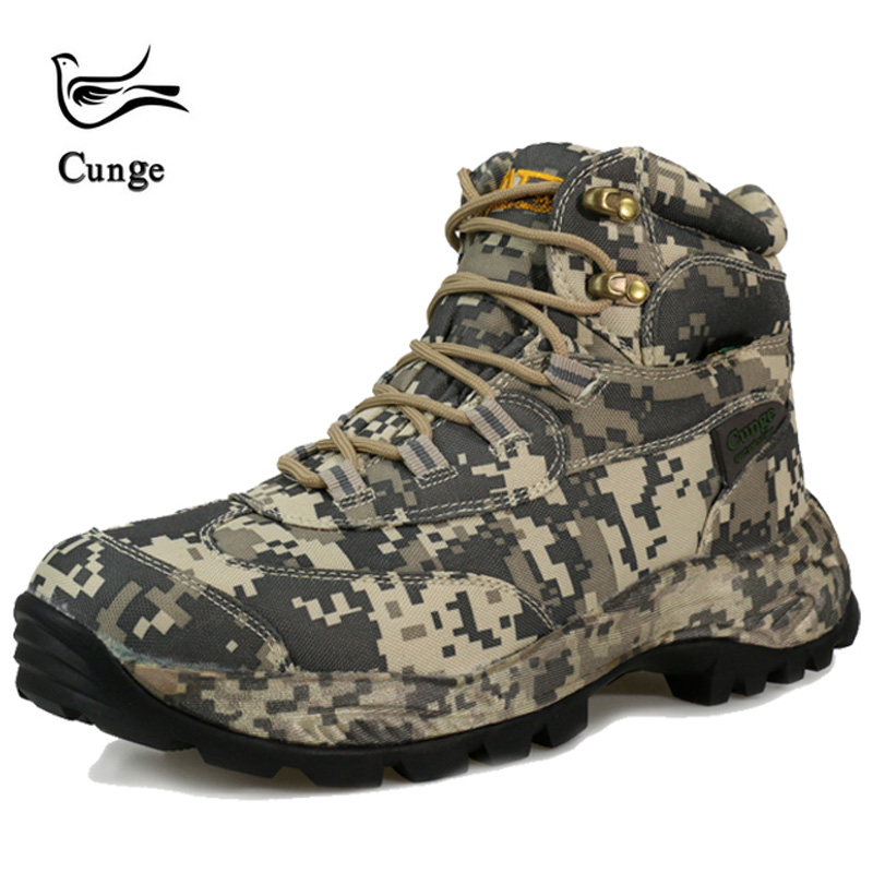 Men's hiking boots Camouflage Combat Ankle Boots Desert Army Shoes Military Tactical Boots Special Force Breathable Waterproof C