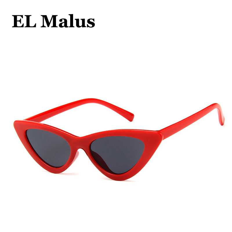 el Malus retro Small Cat Eye Frame Sunglasses Children Kids Uv400 Red White Gray Lens Mirror Vintage Sun Glasses Boys Girls Strengthening Waist And Sinews Accessories
