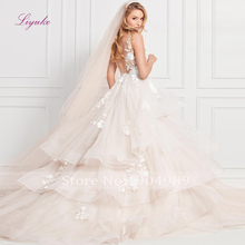 Liyuke 2019 Wedding Dress Ball Gown Sleeveless V-neck