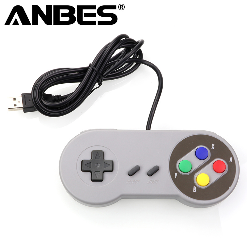 Anbes Usb Controller Gaming Joystick Gamepad Controller For Nintendo Snes Game Pad For Windows Pc Mac Computer Control Joystick