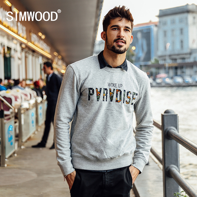 SIMWOOD 2016 new autumn winter fashion hip hop  hoodies  men  street sweatshirts  pullover WY8015