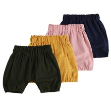 Newborn Harem Shorts Baby Boys and Girls High Quality Bloomers Soft Girls Mustard Bubble Shorts for Baby Kids clothing