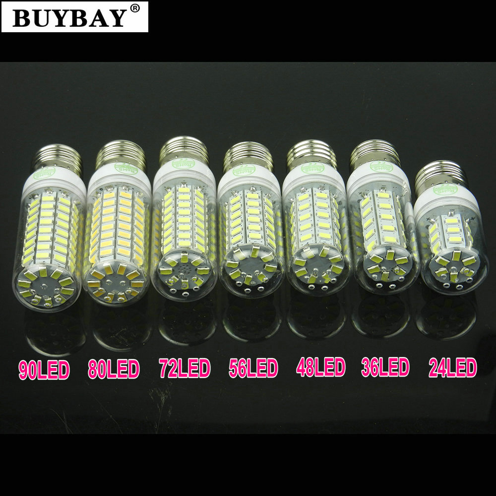 BUYBAY E27 LED bulb corn light E14 led lamp 220V 230V lampada e27 bulb lamp Warm white/Cold white SMD5730 Aliexpress hot sale
