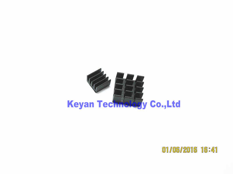 2 шт. алюминиевый радиатор охлаждения радиатора слепой излучающий ребро радиатора для Raspberry PI 3 Model B и Ras PI 2