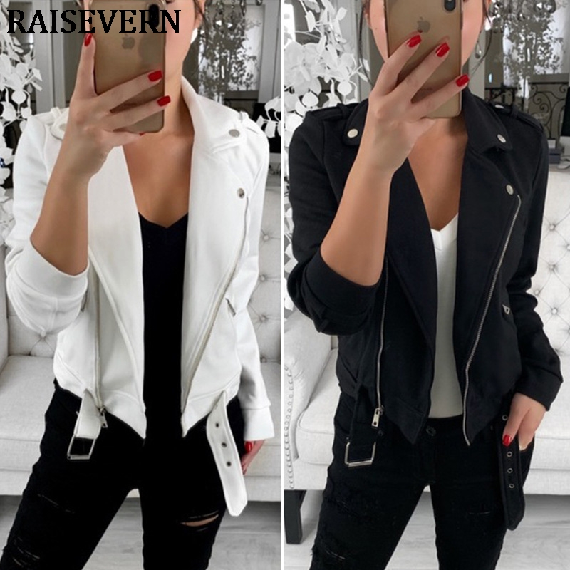 2019 Autumn Winter   Jacket   Women Coat Casual Girls   Basic     Jackets   Zipper Long sleeve   Jacket   Female Coats Plus Size 3XL