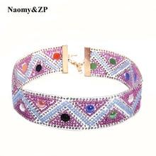 Naomy&ZP Collar Women Tattoo Choker Necklace Statement Necklaces Beads Gothic Rhinestone Wedding Maxi Fashion Chokers Necklace