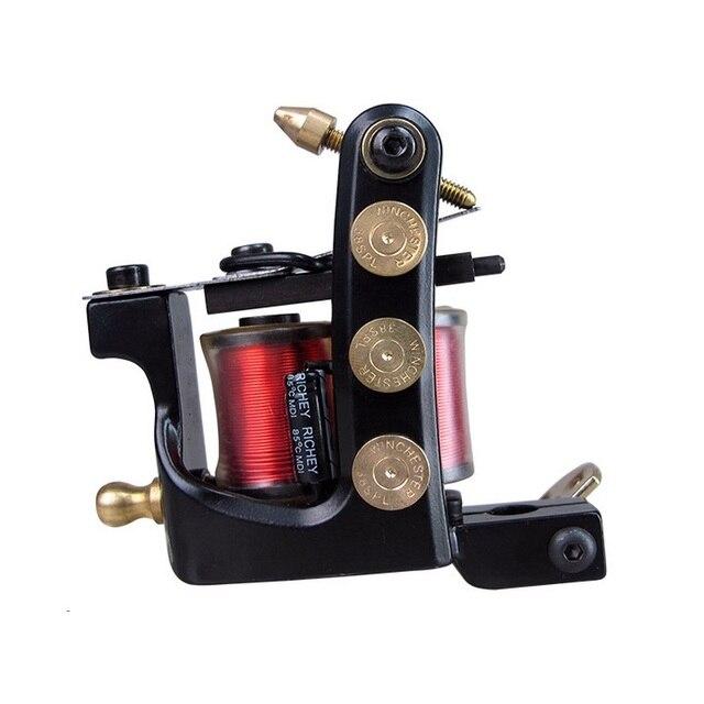 Star Jazz 10 Wrap Coils Permanent Makeup Machine Rotary Tattoo Gun For Kit Set Tattoo Supplies Liner & Shader High Quality