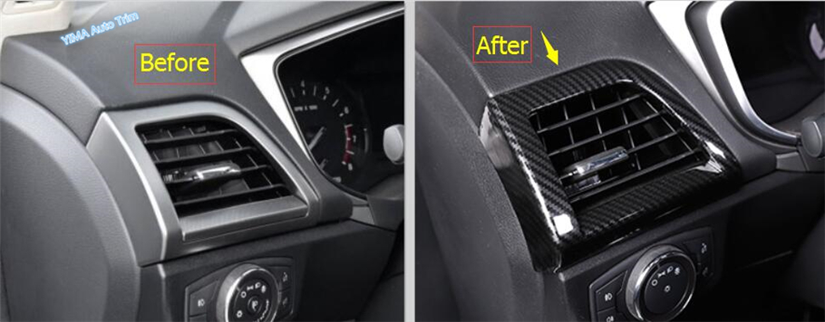 High Quality For Ford Mondeo / Fusion 2013 2014 2015 2016 ABS Central Control Strip + Air Conditioning AC Outlet Vent Cover Trim for mazda 3 axela hatchback sedan 2014 2015 2016 abs high quality air conditioning ac control switch cd panel cover trim 1 pcs