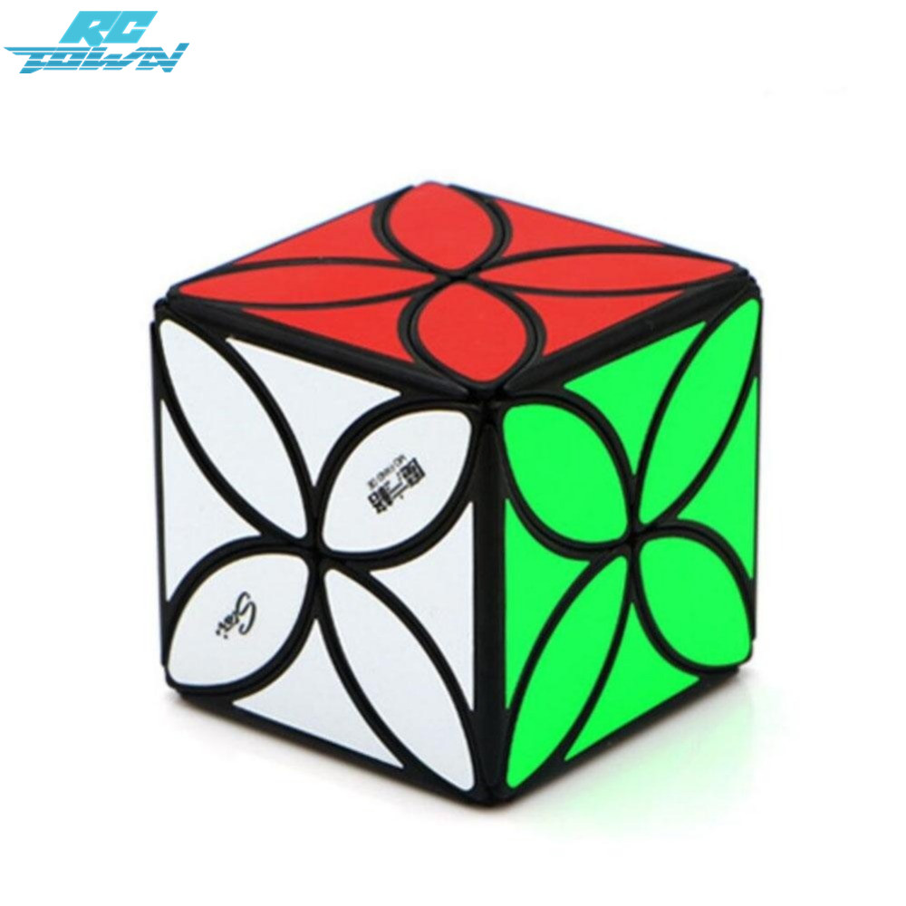 RCtown Kids Four-leaf Pattern Magic Cube Clover Speed Cube Puzzle Toys For Adults zk30 kinston four leaf clover pattern pu plastic case w stand for iphone 6 plus red silver