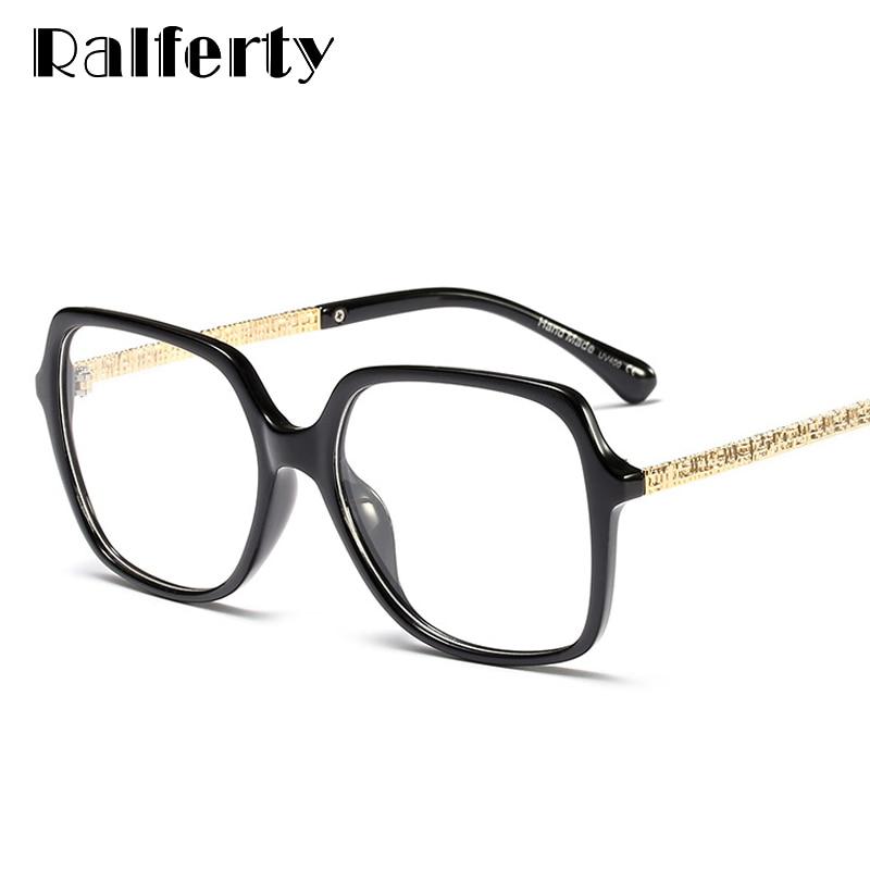 Ralferty Luxury Square Glasses Women Clear Transparent Eyeglasses Frames Fashion Ladies Eyewear Myopia Optical Oculos F95170