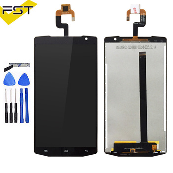 Black For Oukitel K10000 LCD Display+Touch Screen 100% Tested LCD Digitizer Glass Replacement For Oukitel K10000