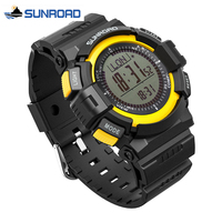 Free Shipping Sunroad FR820A Yellow 3ATM Digital EL Backlit W Altimeter Barometer Compass World Time Stopwatch