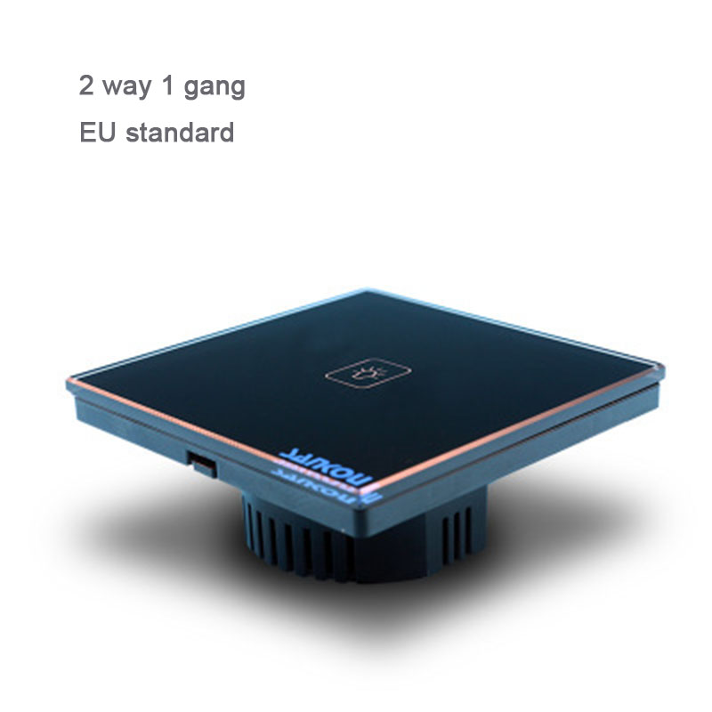EU Standard Switch,1 Gang 2 Way wall Switch, Crystal Glass Panel wall touch Switch,801 white/black/gold Glass free shipping eu standard wallpad black touch control switches 1 gang 2 way crystal glass panel wall touch switch led indicator free shipping