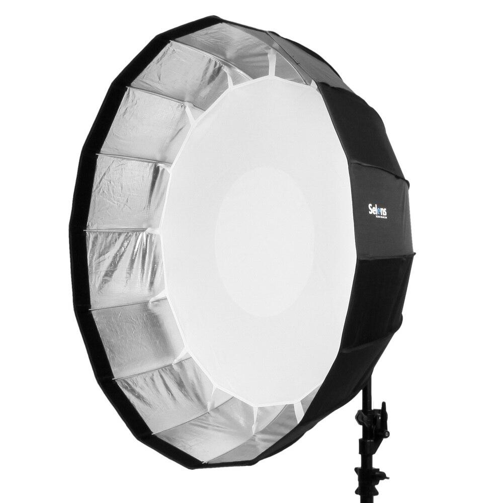 Selens 65 cm diffuseur réflecteur parabolique parapluie beauté plat Softbox pour Off-camera Flash Fotografia boite à lumière sac de transport