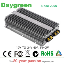 12V TO 24V 60A STEP UP DC DC CONVERTER 60 AMP 1440 Watt POWER BOOST MODULE 12V DC TO 24V DC 60 AMP VOLTAGE REGULATOR maitech 03100637 20w dc 12v to ac 220v step up transformer inverter power boost module green
