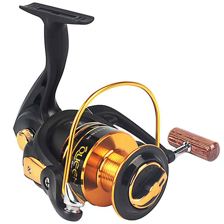 12 Ball Bearing Brass Carp Spinning Fishing Reel Salt Water Wheel Trolling Coils Line font b