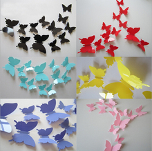 12pcs 3D Butterfly Wall Stickers Butterflies Docors Art / DIY Decorations Paper