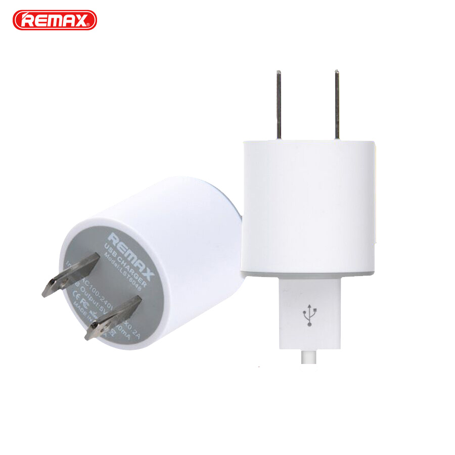 REMAX 5V 1A USB Phone Charger EU US Socket Plug Portable Wall Travel Charger Adapter For Samsung galaxy s7 xiaomi redmi 5 iphone