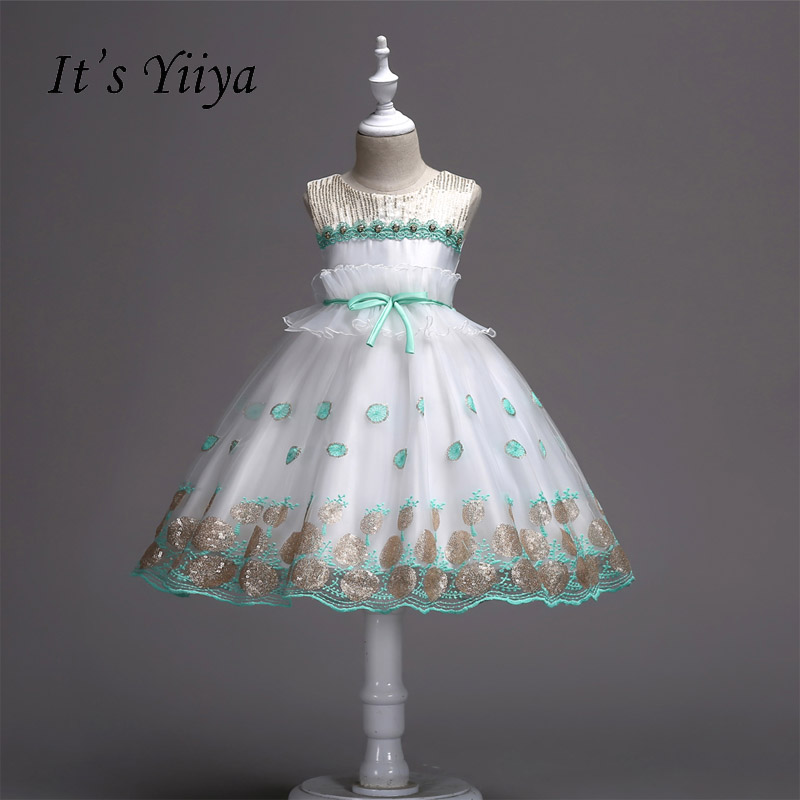 It's yiiya Many Color   Flower     Girl     Dresses   Princess Kid Cloth Ball Grown Simple Bow Ruffles For Party Wedding   Girls     Dress   1025