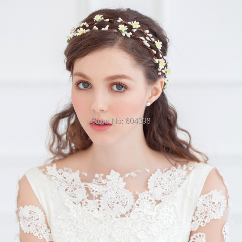 Bridal Hair Wear Beach Garland Flower Headbands Floral Crown Wedding Accessory Halo Woodland For Bridesmaid And Girl In Jewelry From
