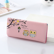 Women Wallets Cute Owl Lady Coin Purse Long Short Style Money Bags Clutch Woman Wallet Cards ID Holder Purses Bag Burse Notecase women lady coin purses retro vintage owl small wallet hasp purse clutch bag key card holder bags dropshipping wholesale lp