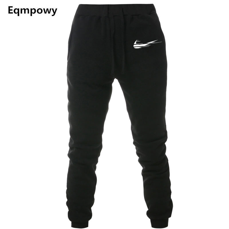 New Brand Print logo Gyms Men Joggers Casual Men Sweatpants Joggers Pantalon Homme Trous ...