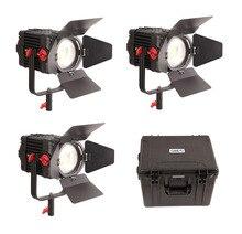 3 pièces CAME TV Boltzen 150w Fresnel focalisable LED lumière du jour Kit Led lumière vidéo
