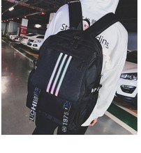 Both Shoulders Package Street Flow Travelling Bag Campus Men And Women High School Student anti theft backpack