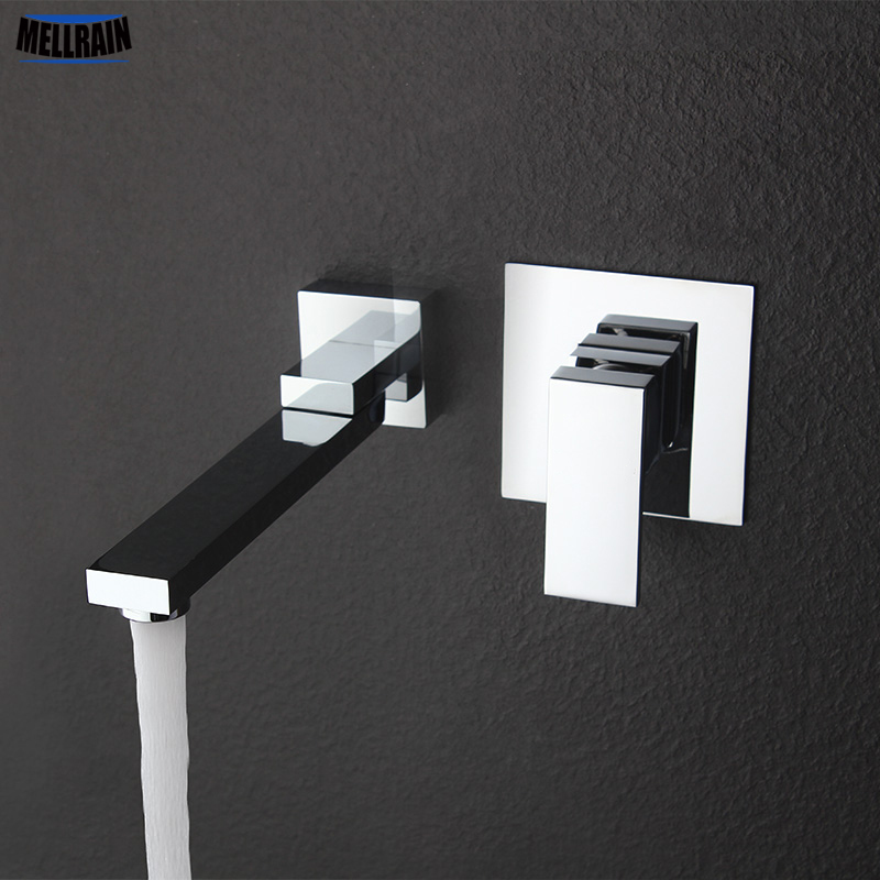 Wall Mounted Rotatable Bathroom Basin Faucet Brass Material Polished & Chrome Plated Bathroom Mixer High Quality Faucet диски helo he844 chrome plated r20