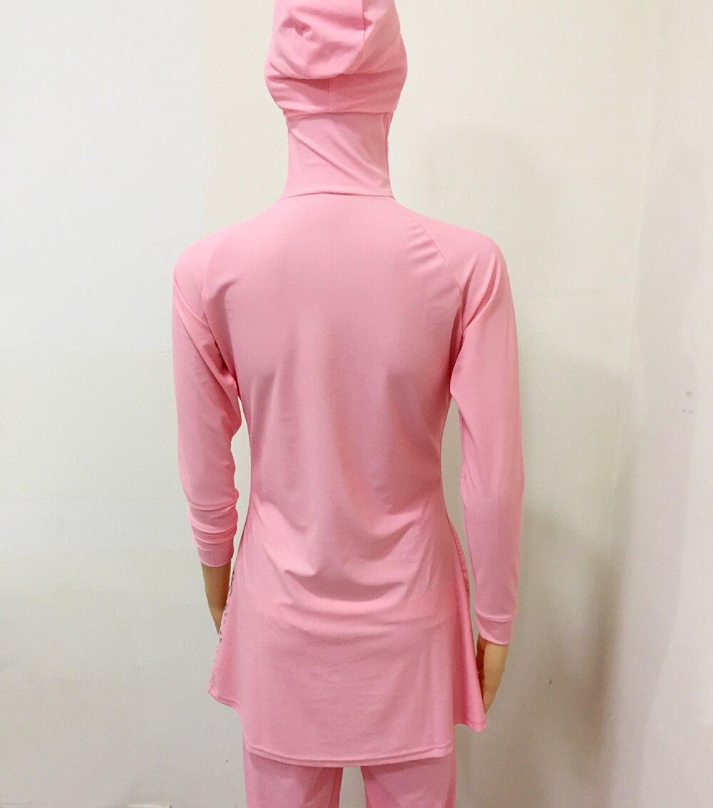 2018 Plus Size Muslim Swimwear Women Modest Floral Print Full Cover Swimsuit Islamic Hijab Islam Burkinis Beachwear Bath